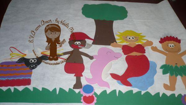 Painel Dia Do Folclore: Loja De Evacomamoratelier